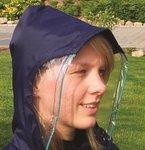 Regencape met mouwen en zichtvenster - Marine blauw