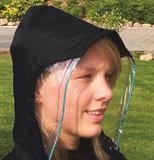Regencape met mouwen en zichtvenster - Zwart_