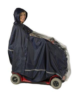 Scootmobiel poncho met venster - Luxe