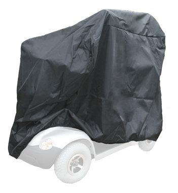 Afdekhoes scootmobiel zwart - Large 160x70x150