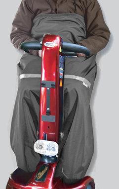 Scootmobiel schootskleed zilvergrijs - Voering