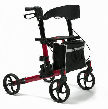 Vermeiren Quava lichtgewicht rollator - rood