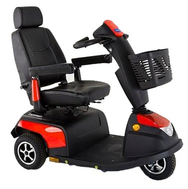 Invacare Orion Metro Carmine Red - 3 wiel scootmobiel