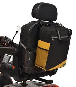 Wheelyscoot rugleuningtas scootmobiel geel