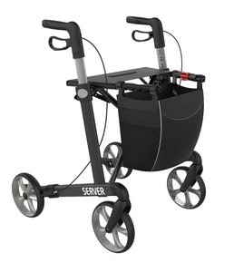Rehasense rollator Server - antraciet